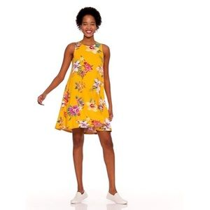 Old Navy Yellow Floral Dress Size Medium NWT